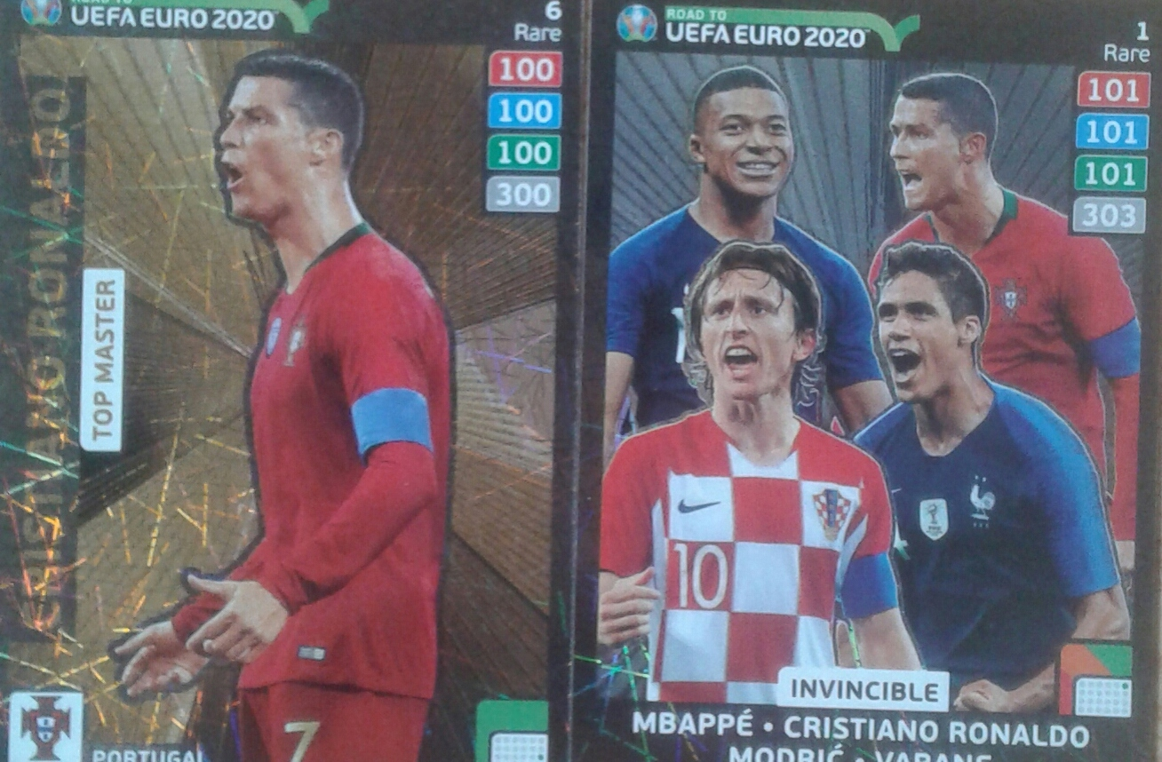 ROAD TO EURO 2020 3 KARTY RARE RONALDO INVINCIBLE
