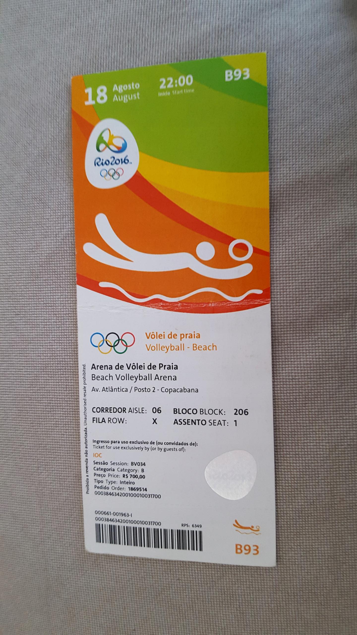 Olimpiada 2016 Piłka Plażowa mecz o III miejsce