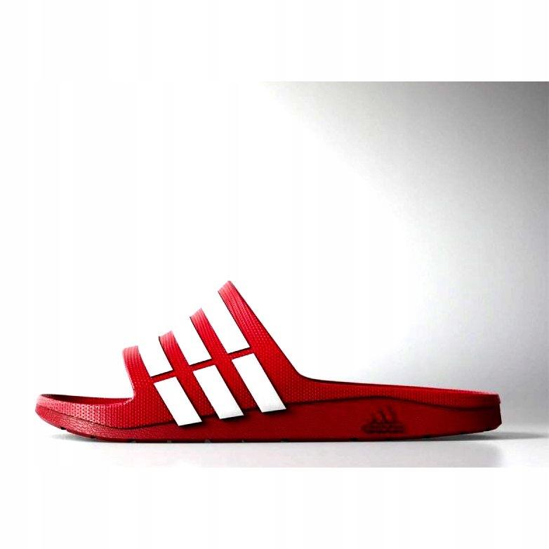 Adidas Klapki Męskie Czerwone r.46