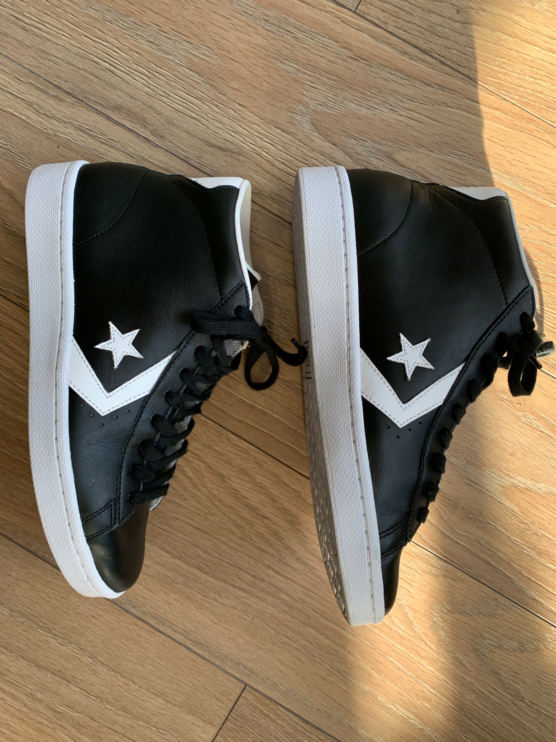 Converse Pro Leather 76 Mid Dolphin white