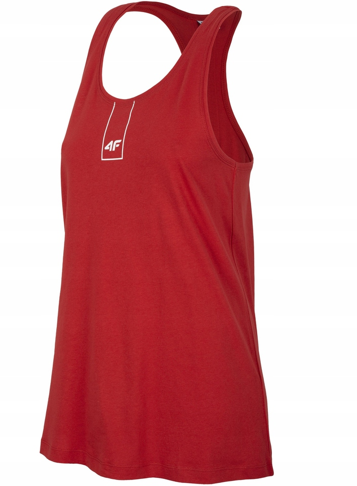 Top damski koszulka 4F TSD003 czerwony rozmiar L