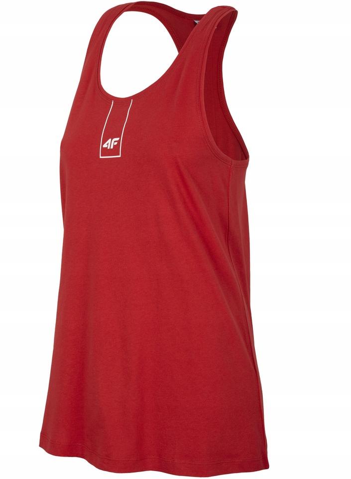 Top damski koszulka bokserka 4F TSD003 czerwony XL
