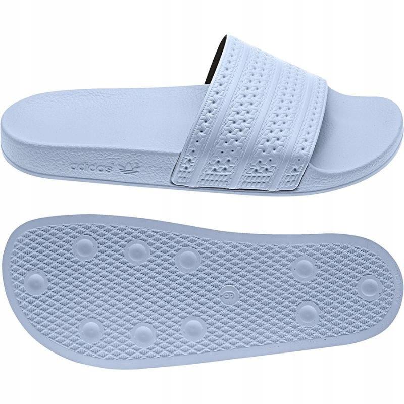 Białe Buty Damskie Klapki Sportowe Adidas r.37