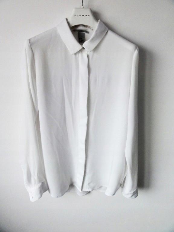cc3aee1fccd74c biała elegancka koszula bluzka biznesowa hm 36/38 - 7740622275 ...