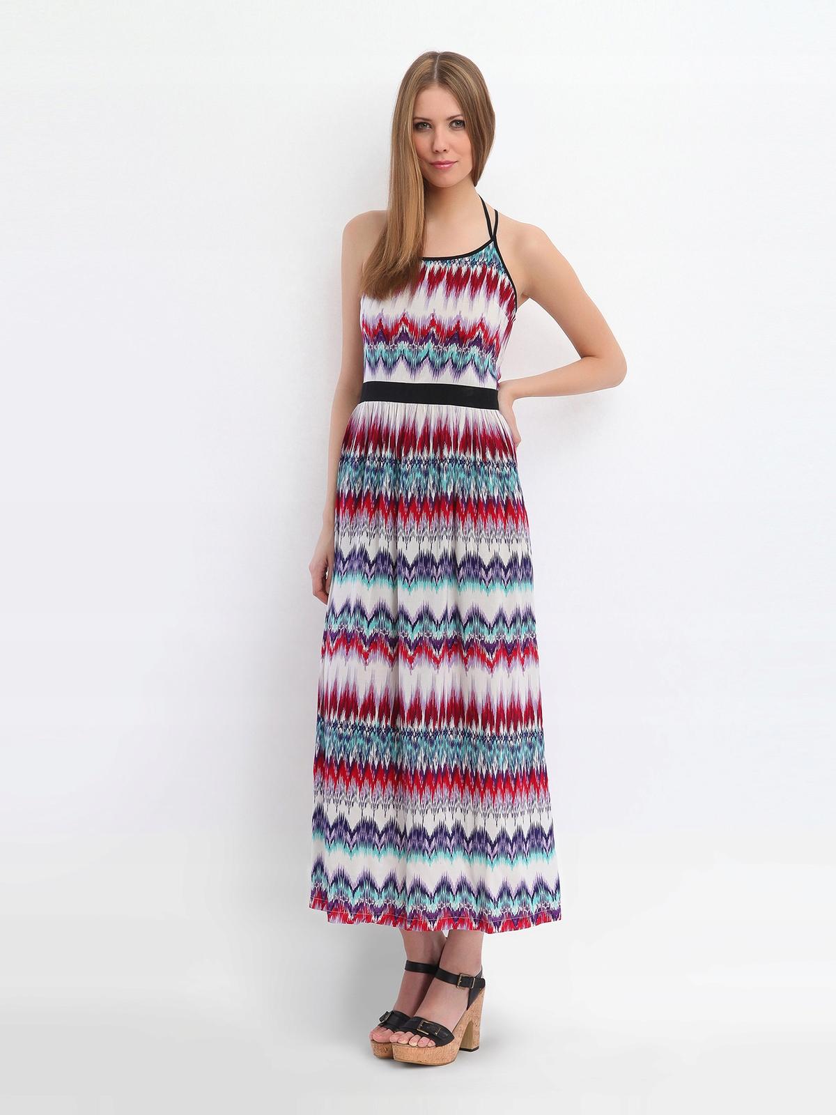 Kolorowa długa sukienka Top Secret M