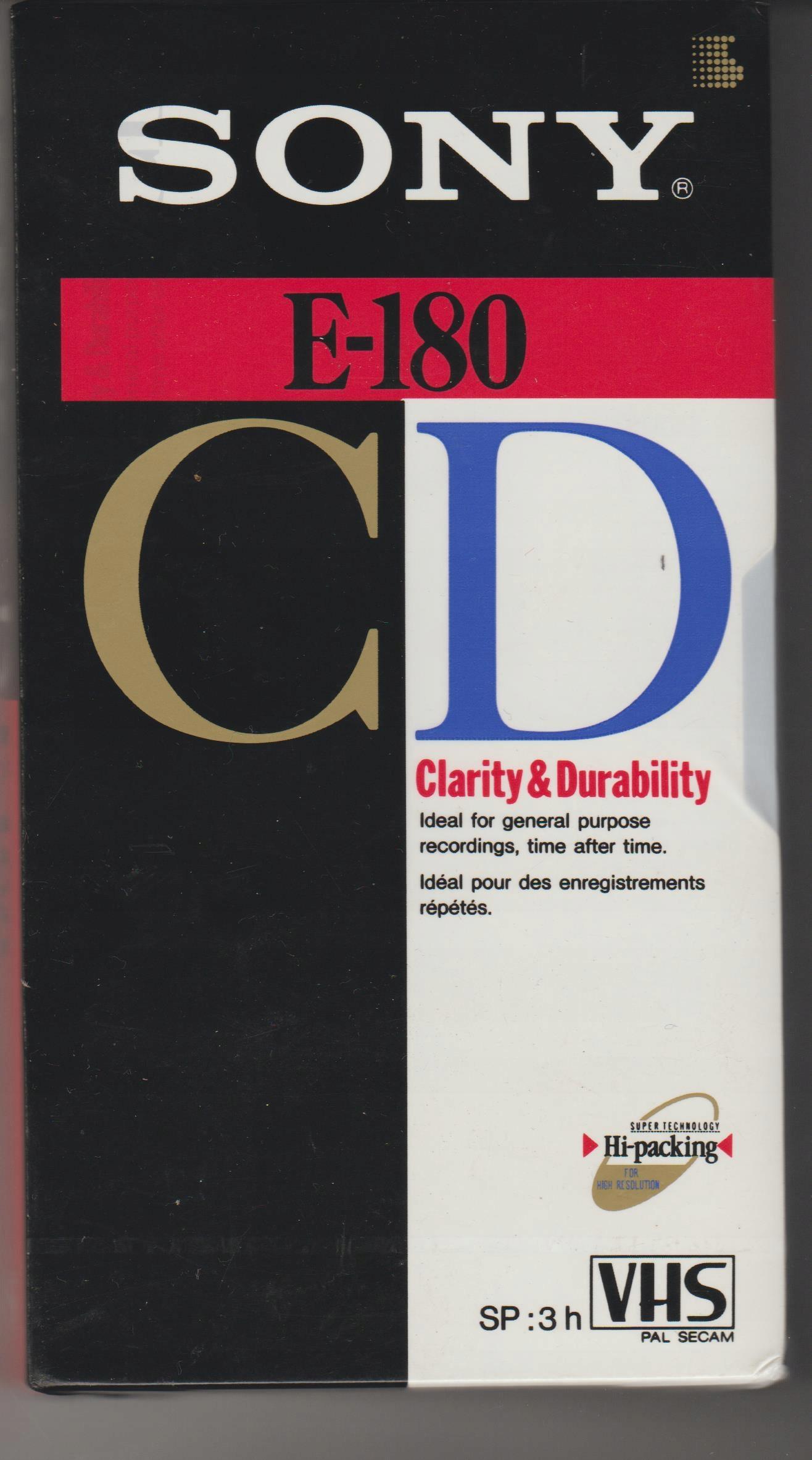 Kaseta SONY VHS E-180 NOWA, zafoliowana, 3 godziny