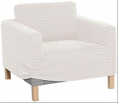 Świeże Pokrowiec na fotel elastyczny kremowy beżowy - 7113771418 RG97