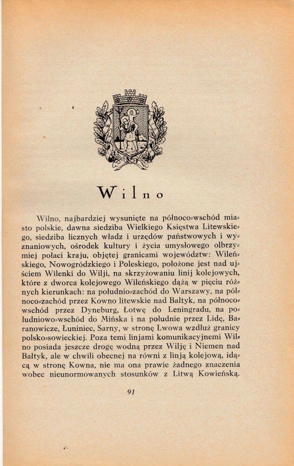 Wilno - przewodnik / informator - 1929r