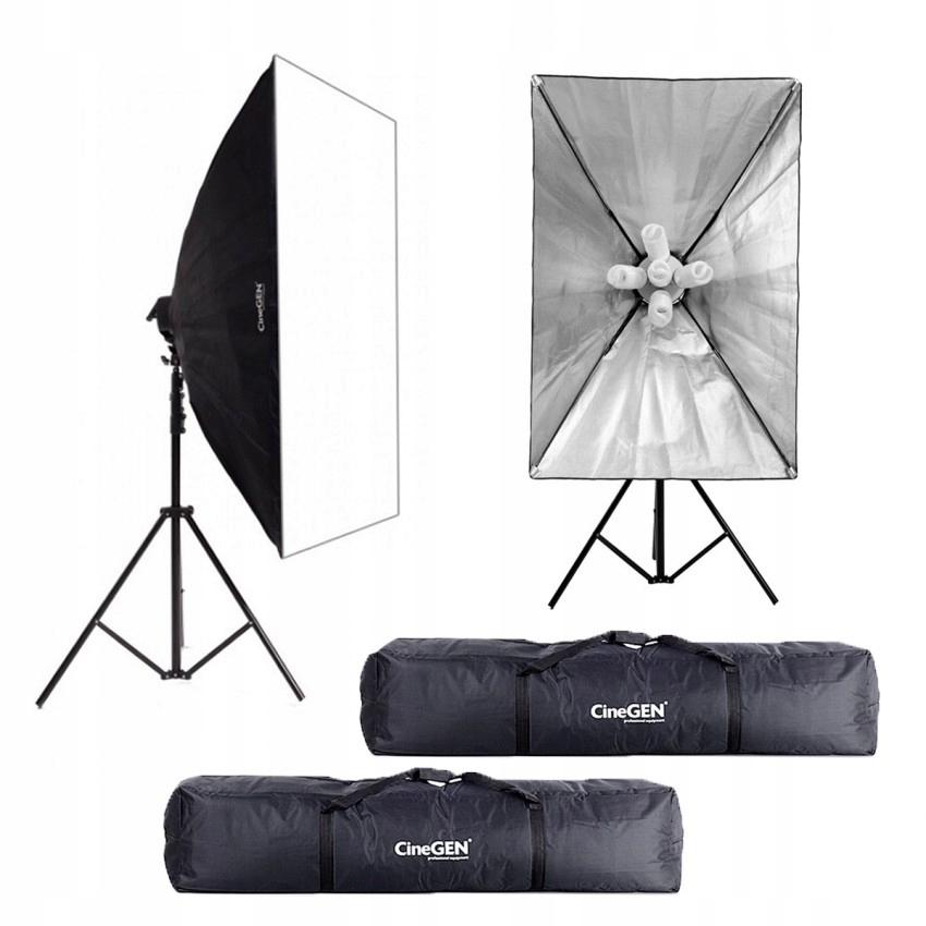 Zestaw fotograficzny 2x lampa 80x120 TORBY SOLIDNY