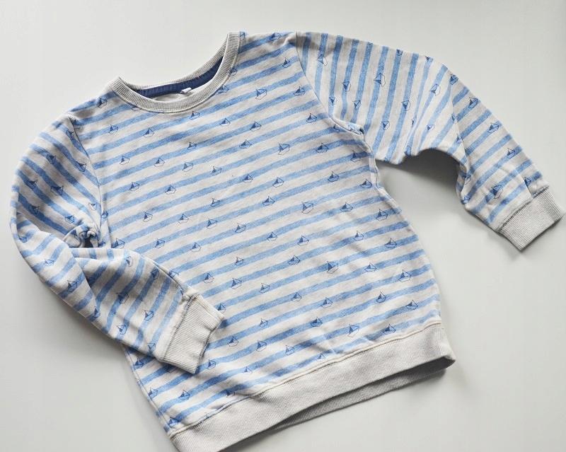 Bluza bawełniana w paski 122 cm