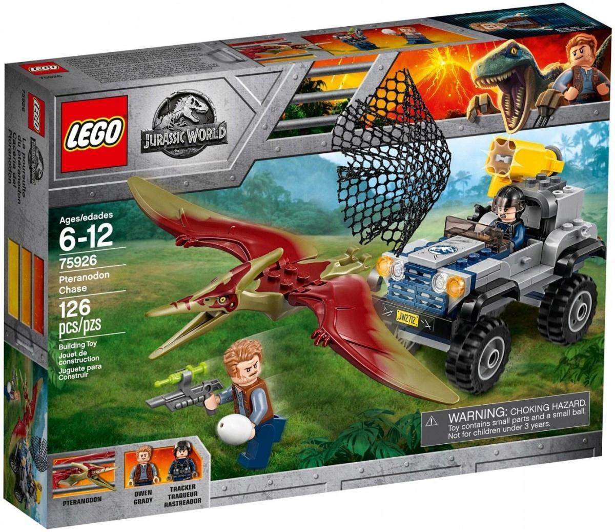 KLOCKI LEGO 75926 LEGO POŚCIG ZA PTERANODONEM
