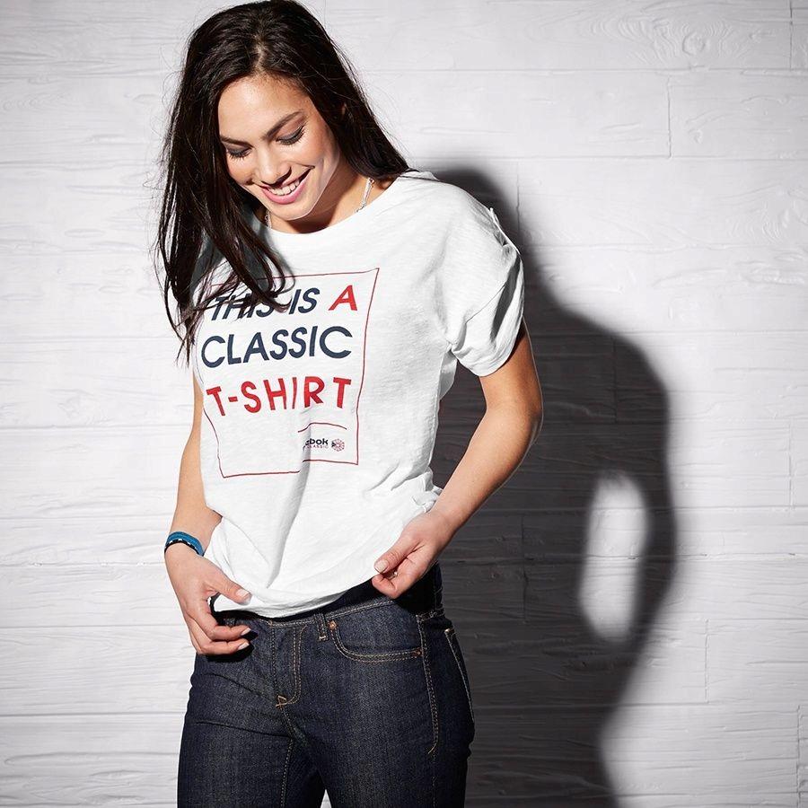 Koszulka Reebok F Slogan Tee AA9163 S biały