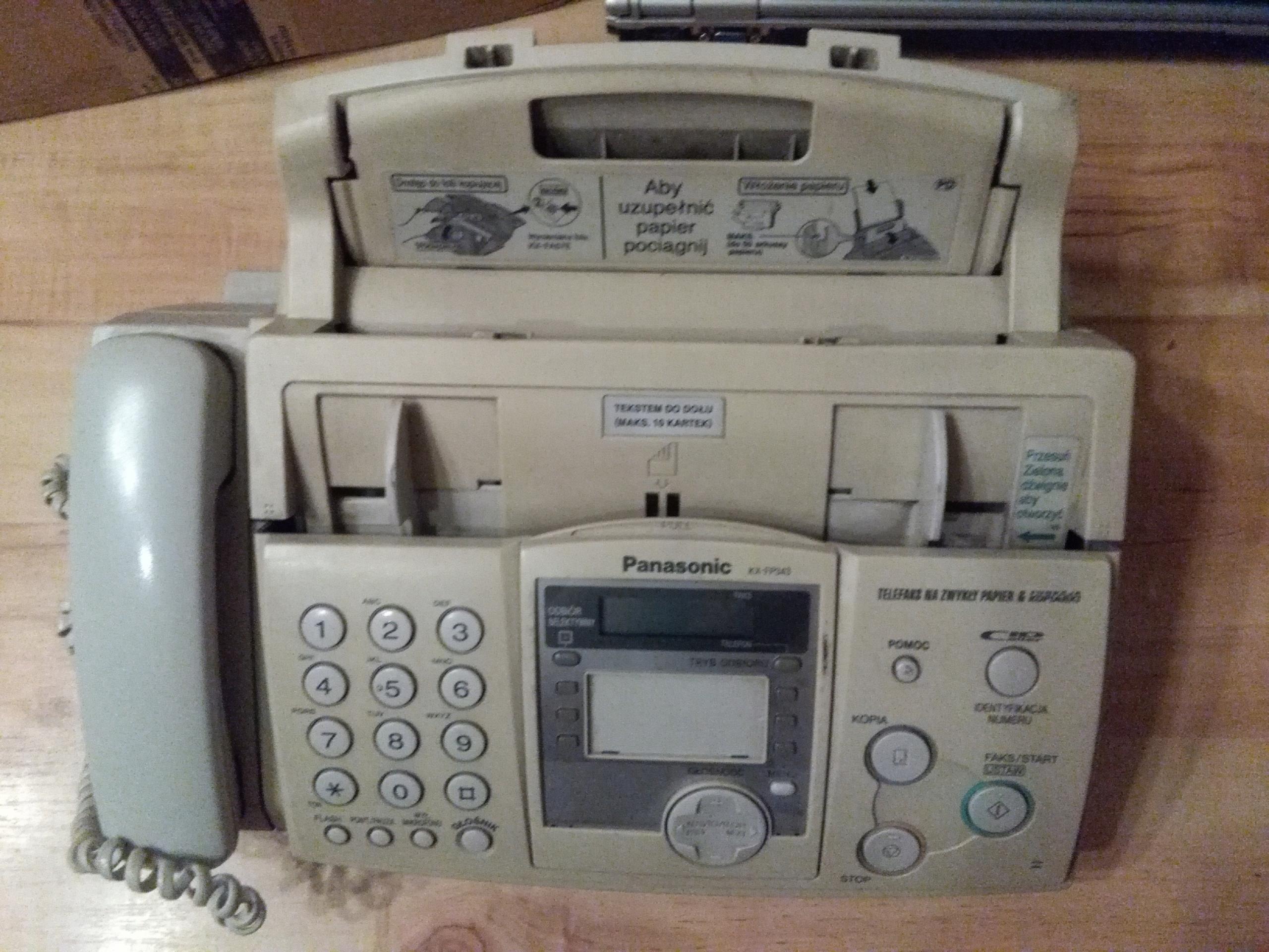 Telefon fax TELEFAX PANASONIC KX-FP343