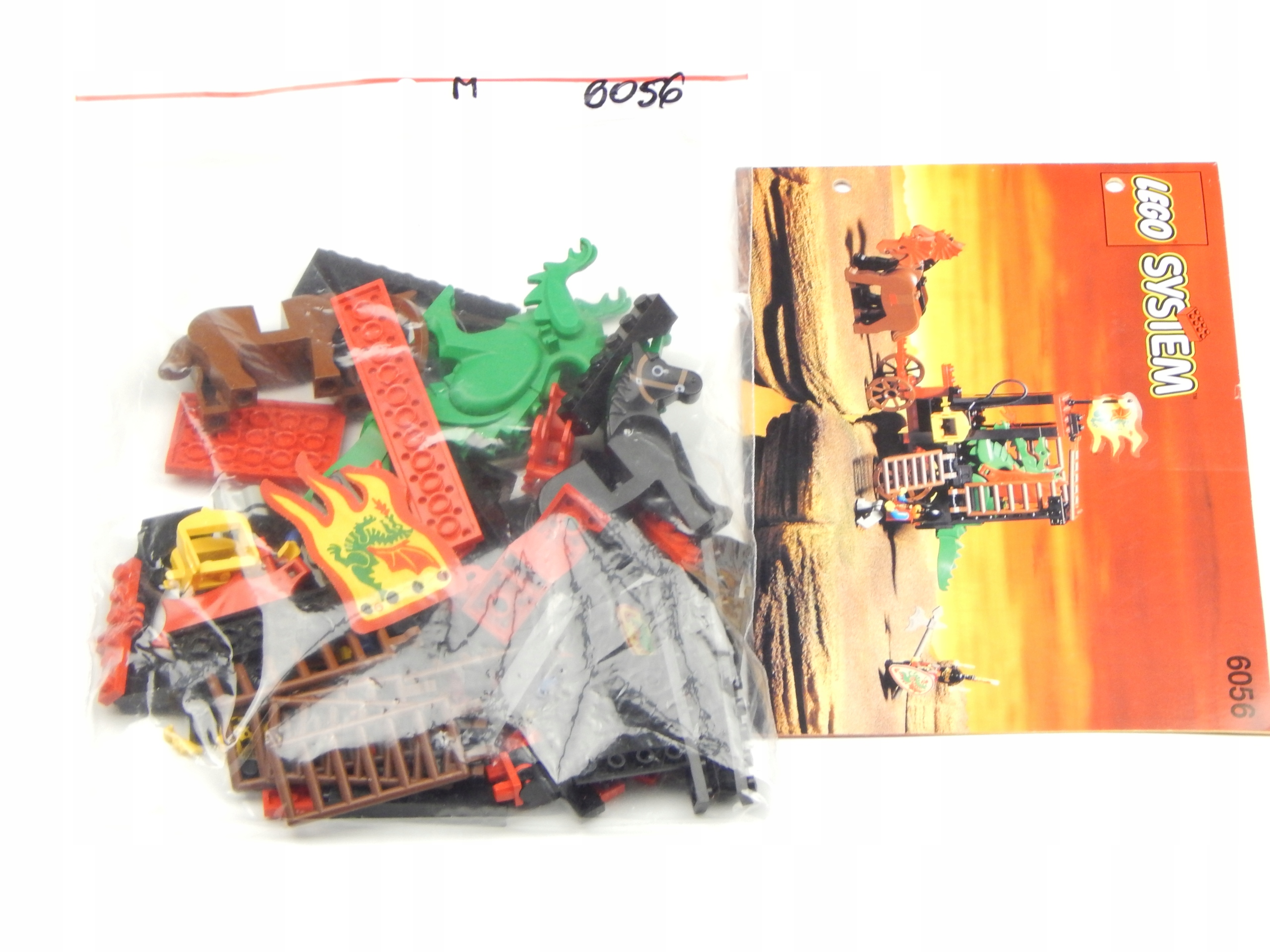 LEGO SET 6056 CASTLE INSTRUKCJA UNIKAT SUPER STAN