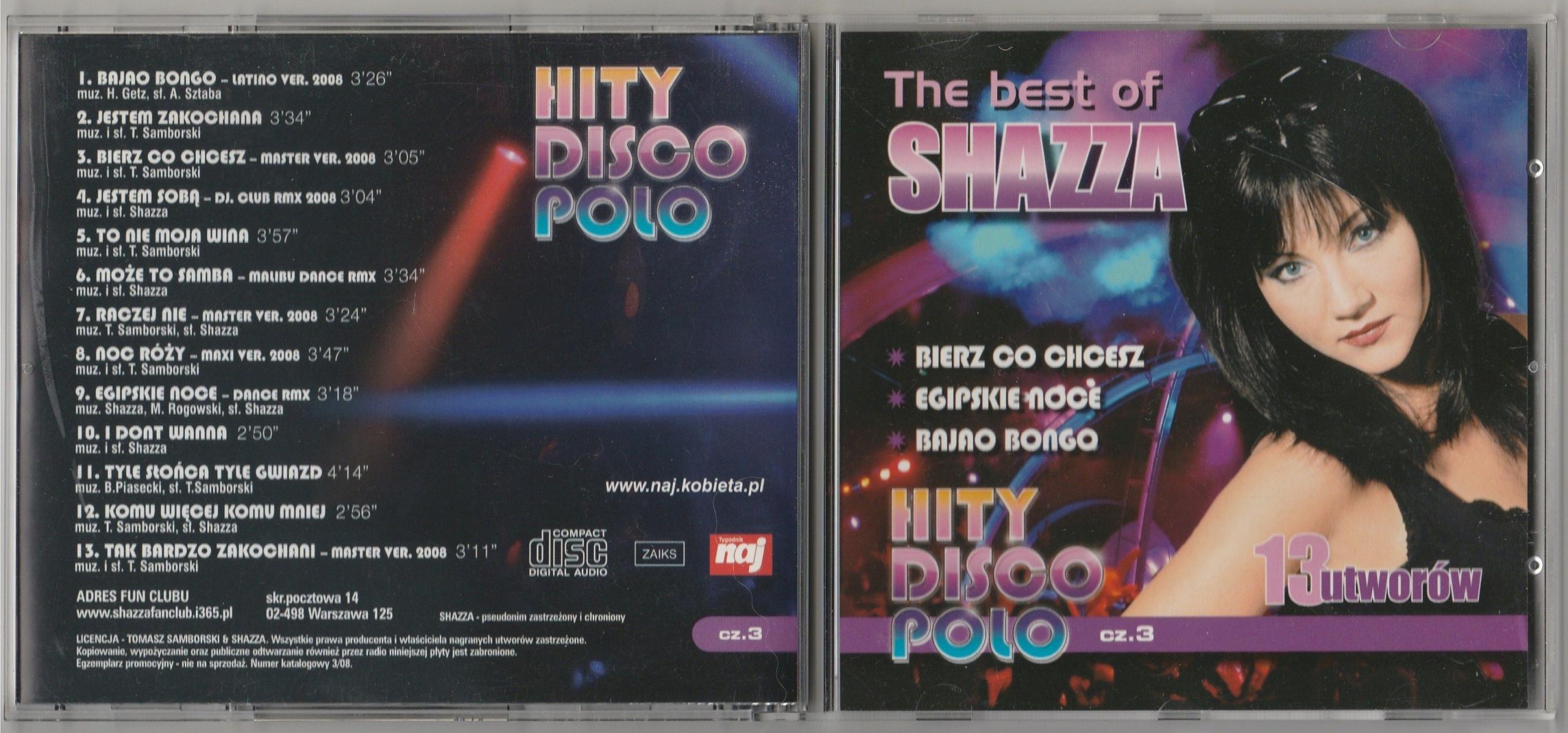 SHAZZA The Best Of CD 2008 naj 13 HITS SUPER STAN