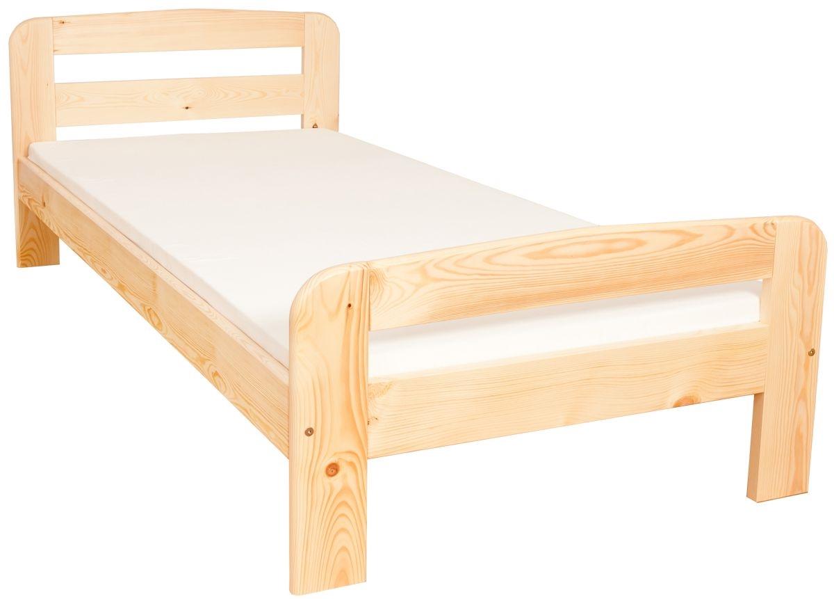 łóżko Ted 90x200 Sosnowe Materac Piankowy Zestaw