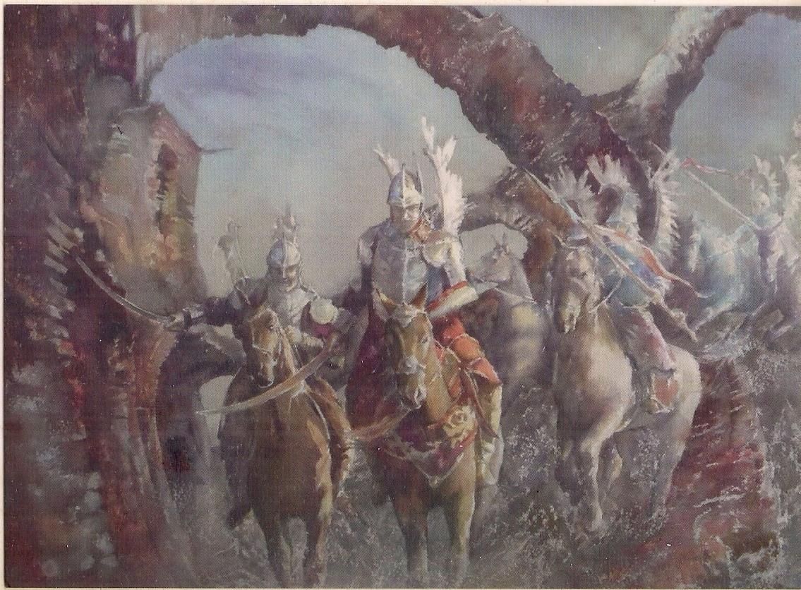Husaria polska w grodnie konie białoruś