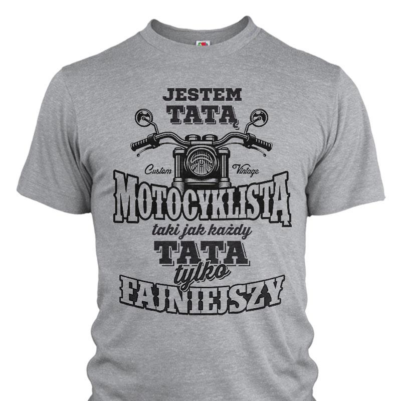 koszulka dla TATY DZIADKA motocyklisty motor S