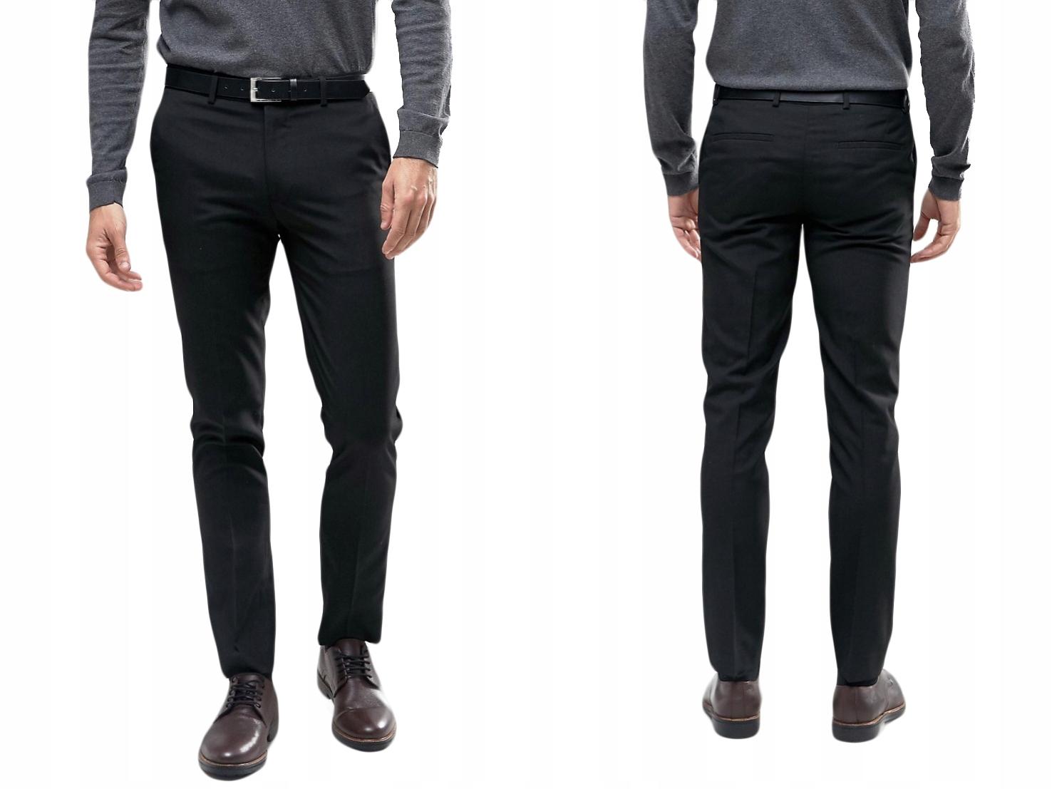 River Island Spodnie męskie czarne W28 L30