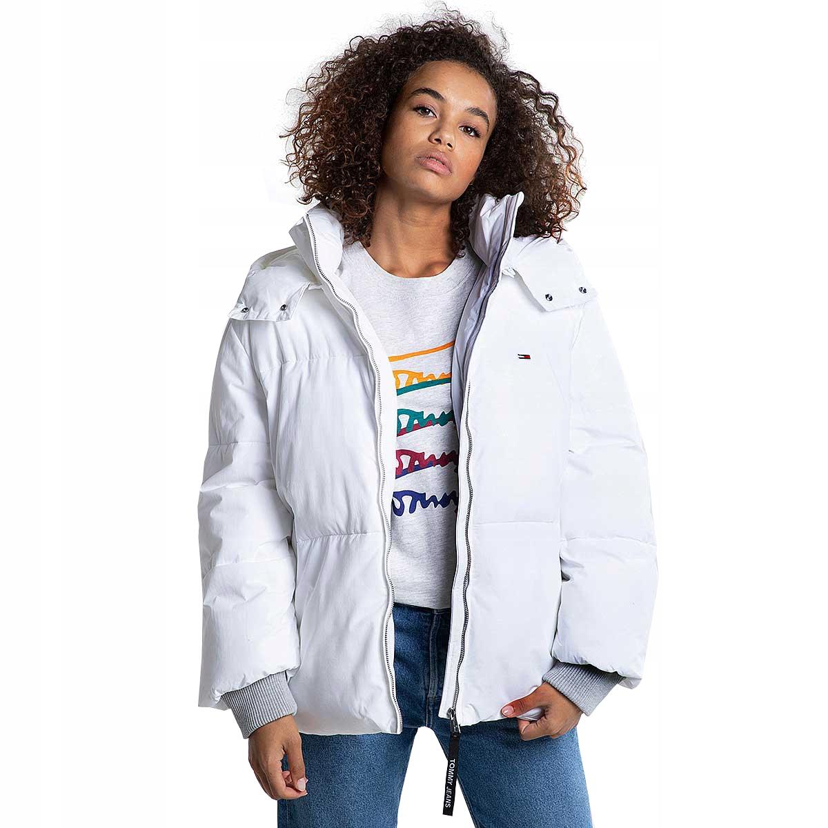 aM9923 TOMMY JEANS biała kurtka puchowa 36,38
