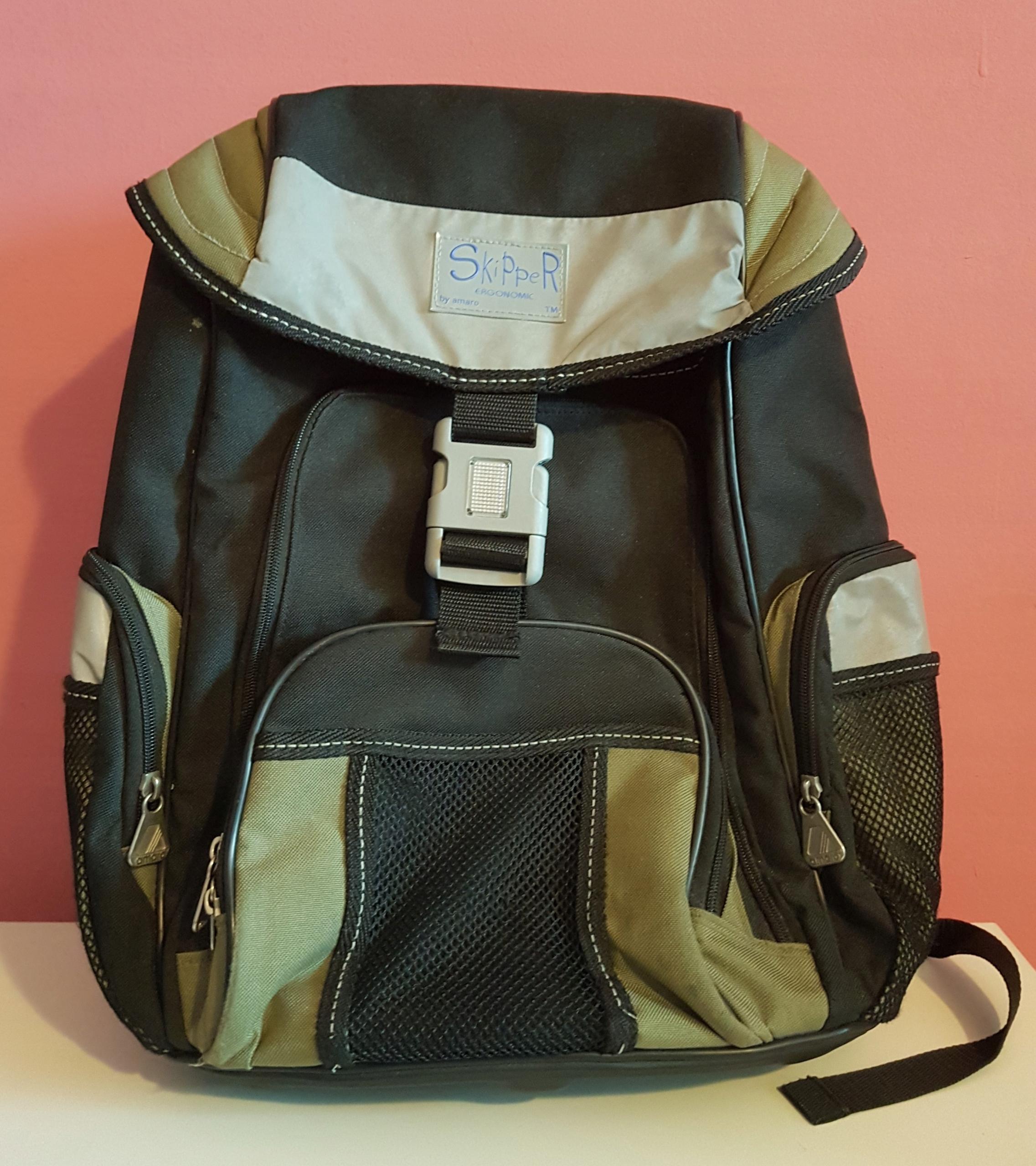 Plecak AMARO laptop duży SKIPPER dużo kieszeni