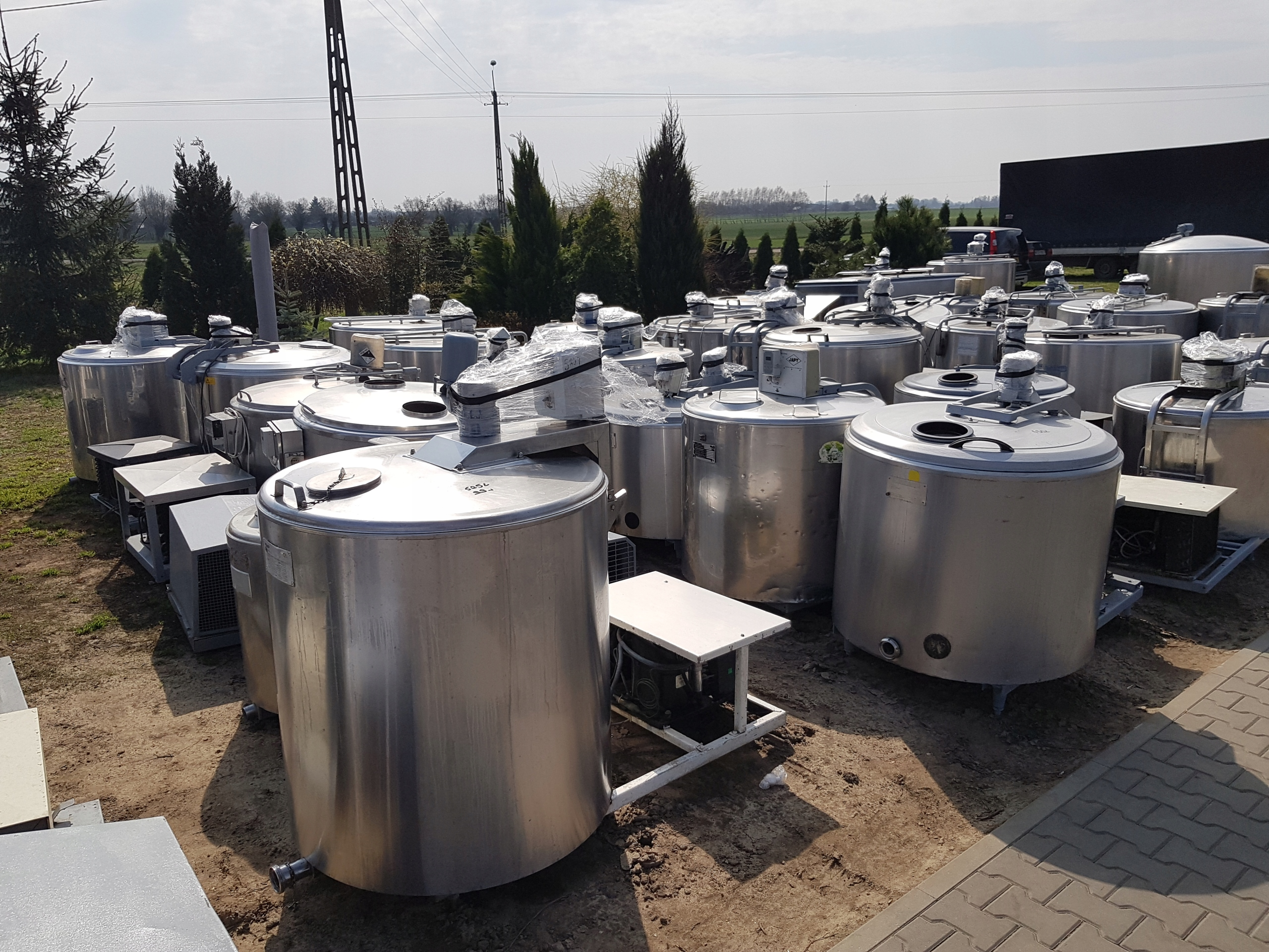 Zbiornik Schładzalnik,Chłodnia do mleka 1000 L
