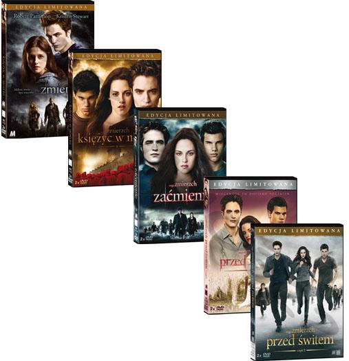 SAGA ZMIERZCH - KOLEKCJA CZ.1,2,3,4,5 [ 10 DVD ]