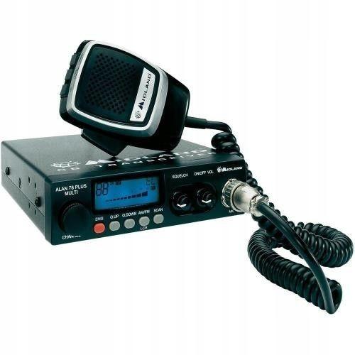 Radio CB Midland Alan 78 B Plus, wielokanałowy