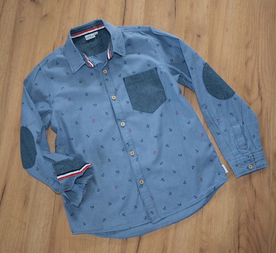 ebbe świetna koszula marynarska łatki 146