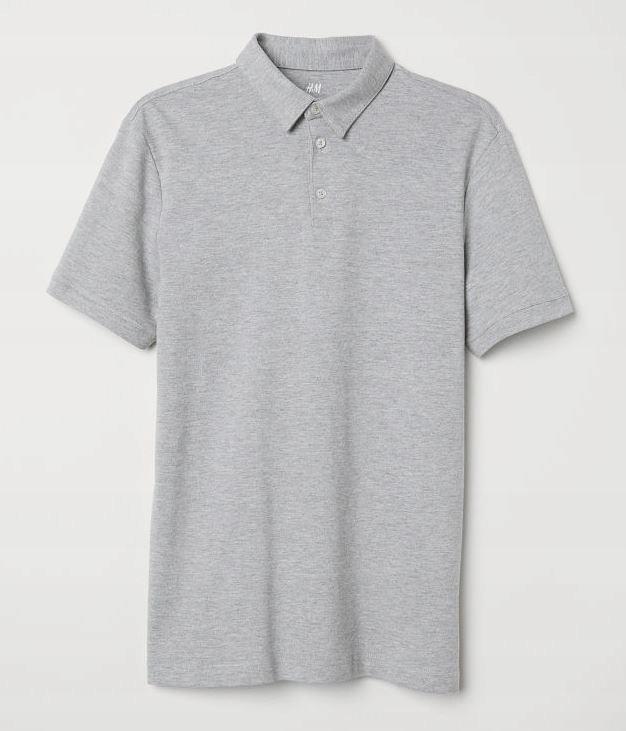 H&M Gatunkowa Koszulka POLO M Slim Fit