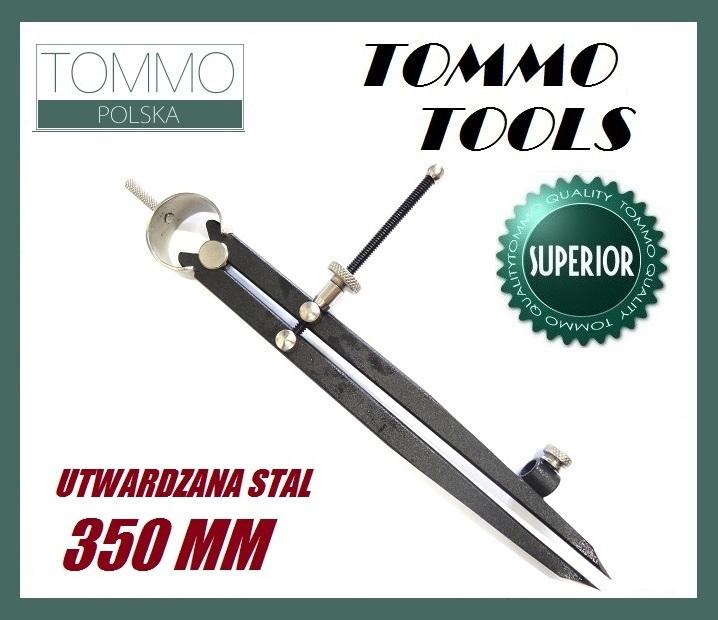 Cyrkiel Traserski Prosty 35cm Utwardzana Stal 2w1