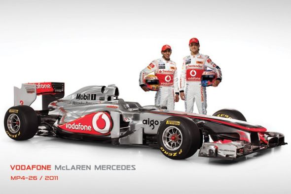 Mclaren Bolid F1 (Mp4-26 and Drivers) - plakat