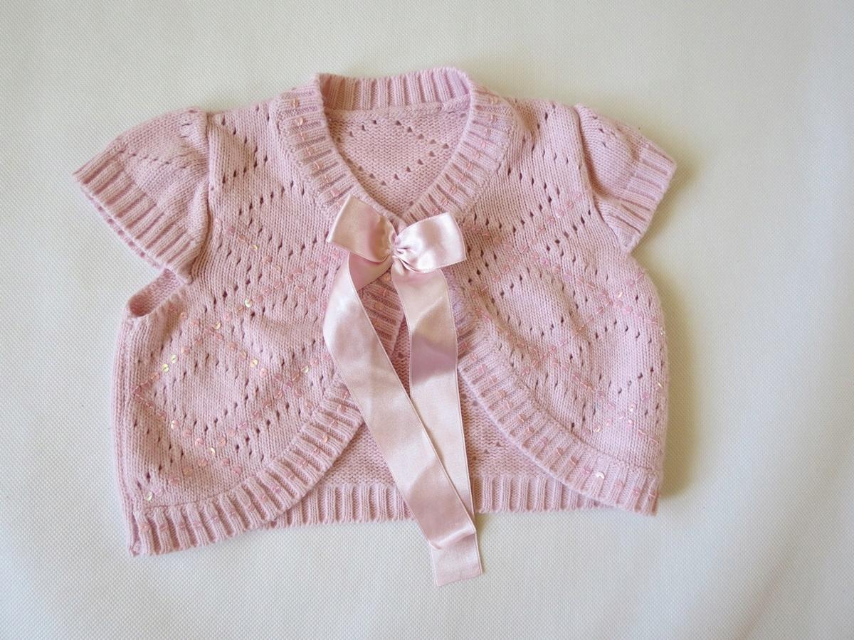 Super różowy sweterek - bolerko - 110 cm, 4 lata,