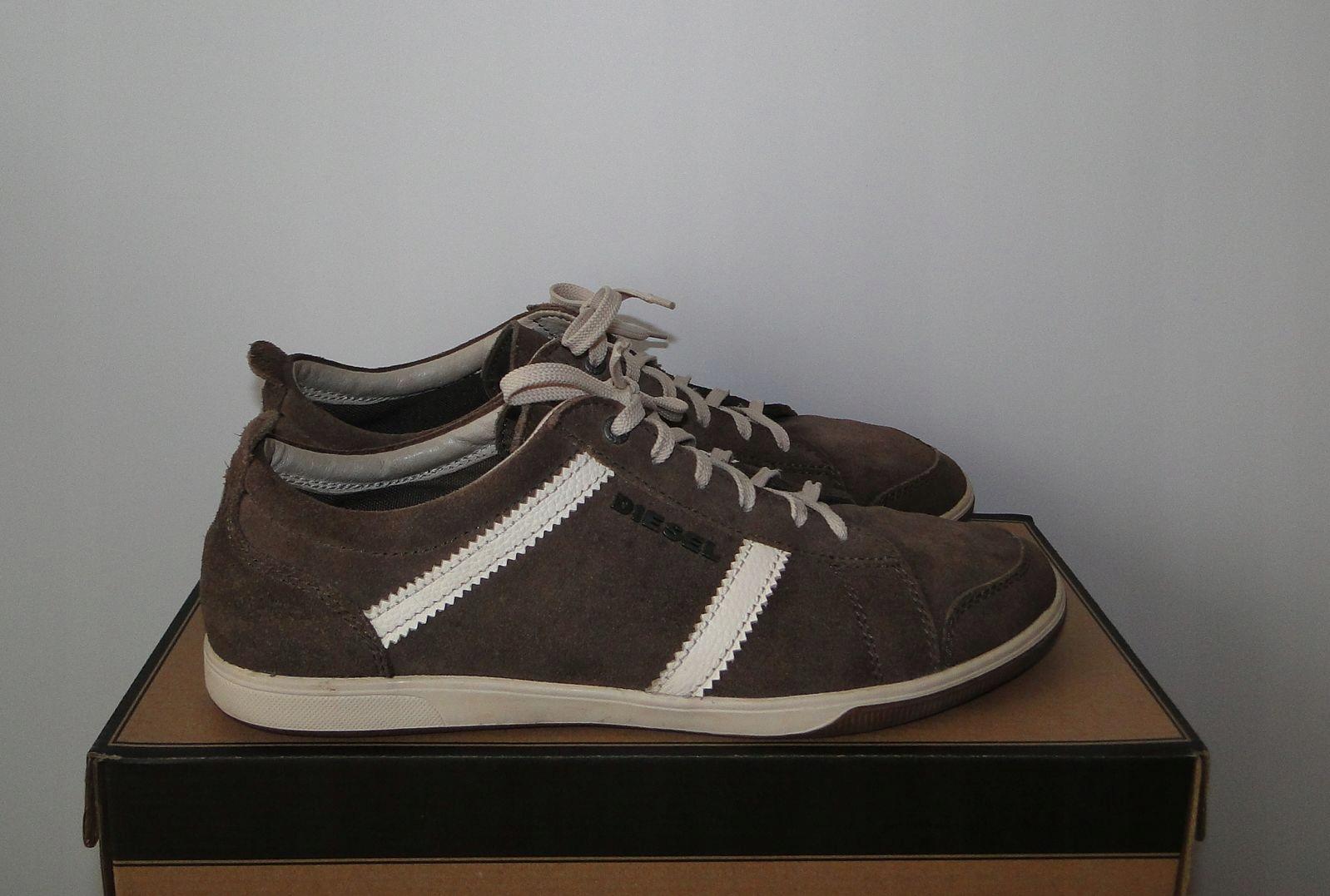 Buty Diesel Skorzane Sneakers Skora Krowia / 42