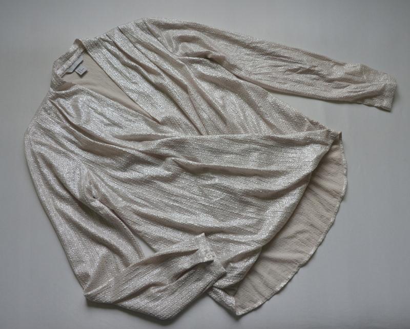 Koszula kopertowa elegancka pudrowa H&M 34/36