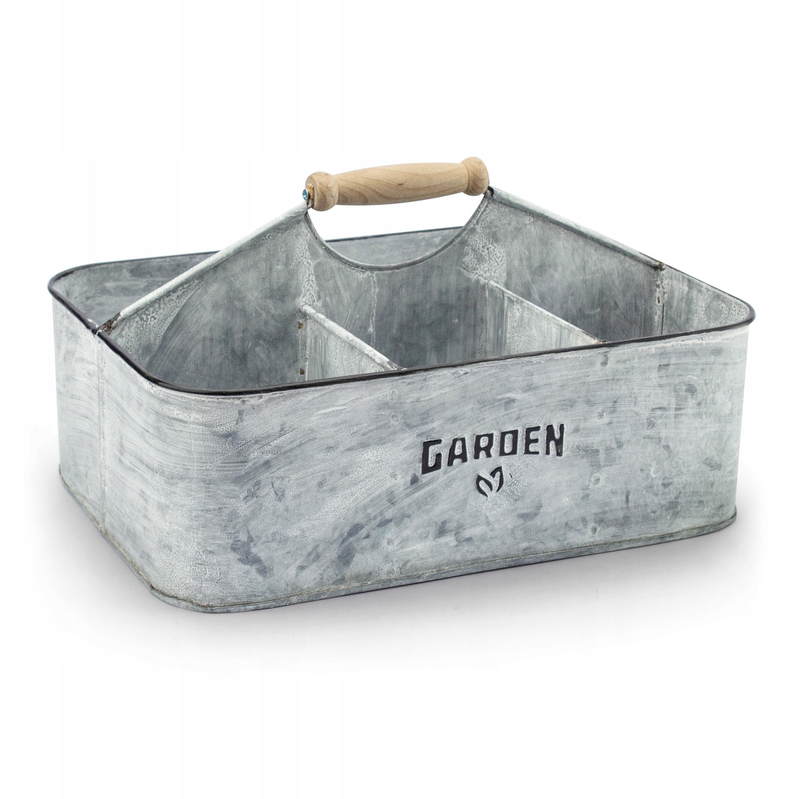 Osłonki Na Doniczki Ocynkowane Garden Szare 7443285602