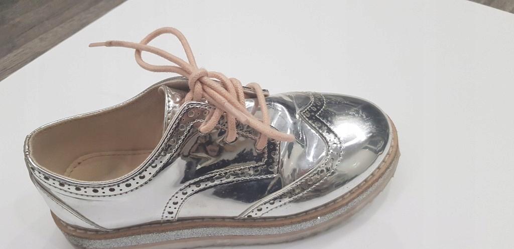 Zara buty srebrne dziewczynka 31