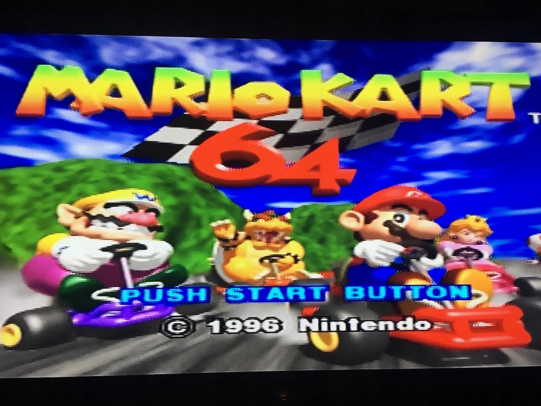 Konsola Nintendo 64 + Mario kart 64.