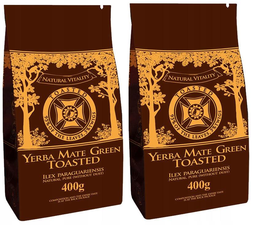 Yerba Mate GREEN BLACK prażona TOASTED 2 x 400 g