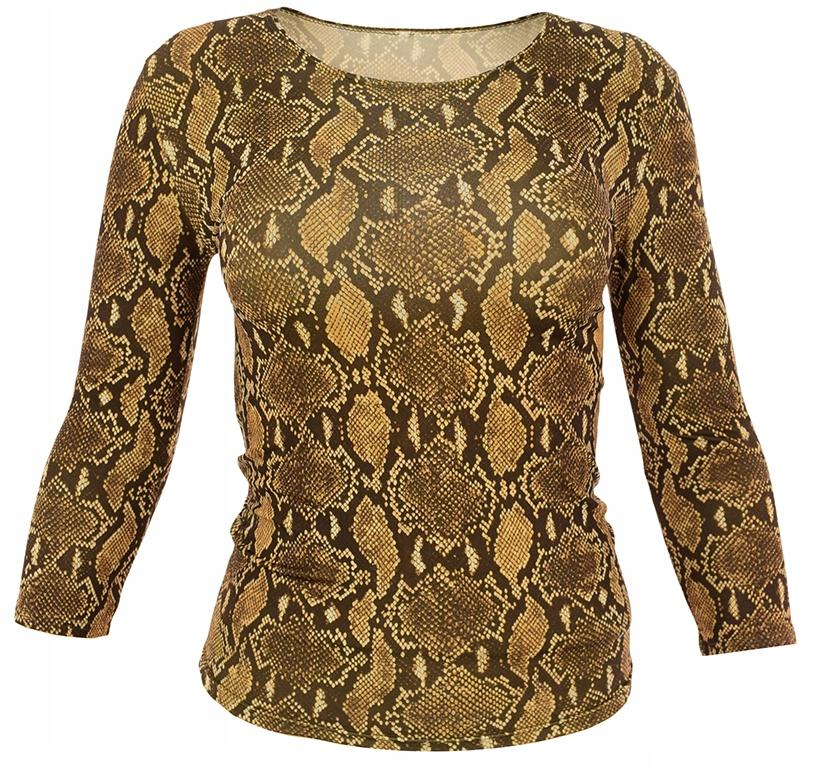 lKK2290 modna bluzka wężowy wzór 34