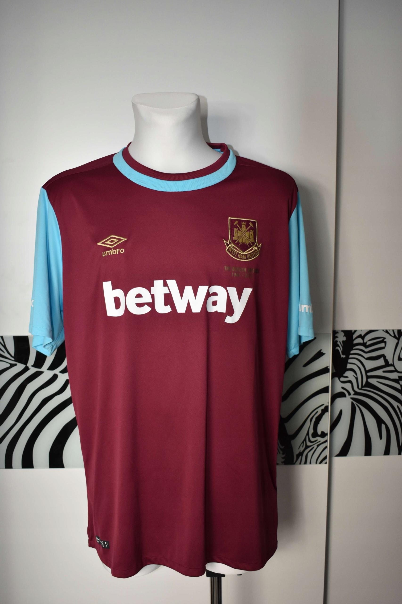 West Ham 2015 - 2016 umbro koszulka sportowa
