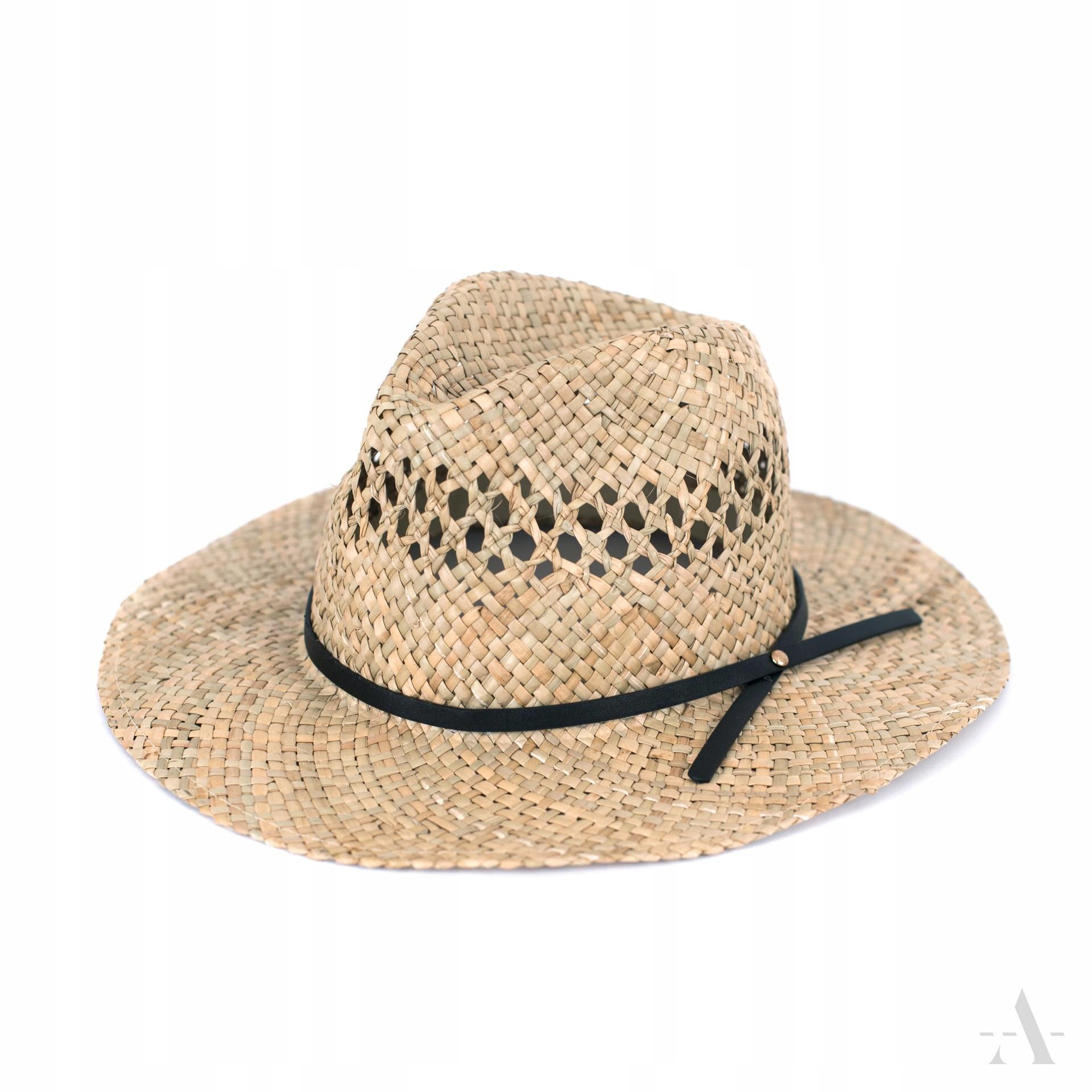 Profilowany kapelusz na lato z szerszym rondem