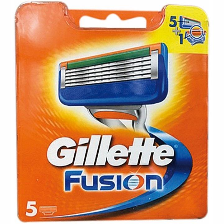 Gillette Fusion Wymienne Ostrza Wkłady 5 Sztuk