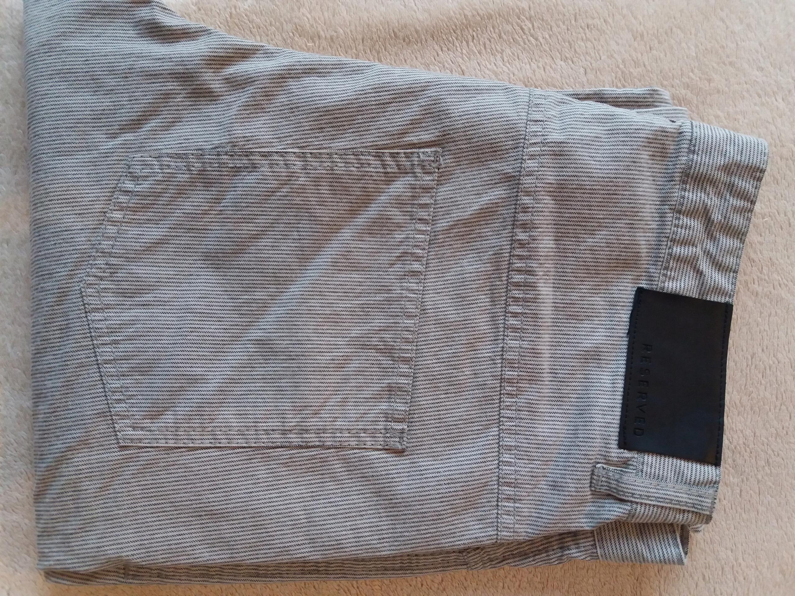 Spodnie materiałowe RESERVED bawełna, rozmiar 31