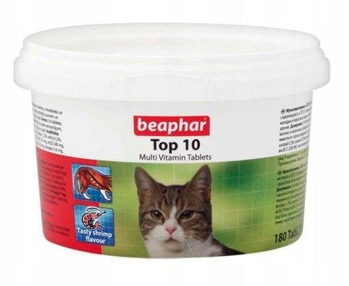 Beaphar TOP 10 Cat - preparat witaminowy z tauryną
