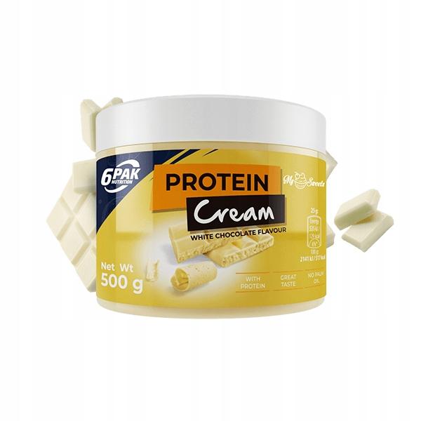 6 PAK PROTEIN CREAM 500 g. WHITE CHOCOLATE 07.2019