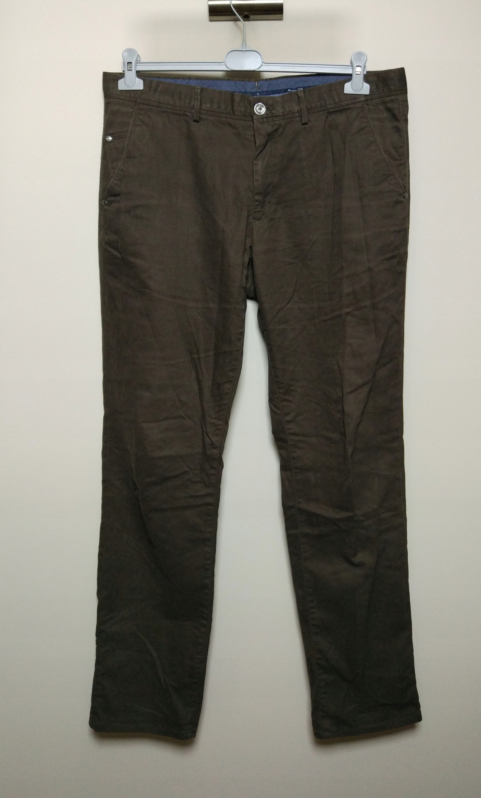 MASSIMO DUTTI zielone spodnie khaki casual fit 46