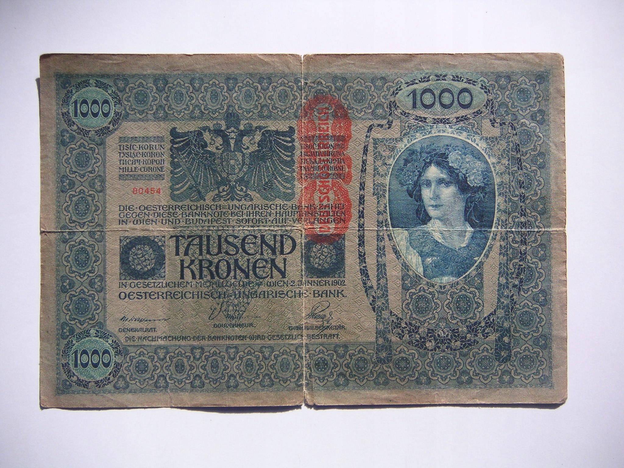 1000 koron 1902r. Austro-Węgry