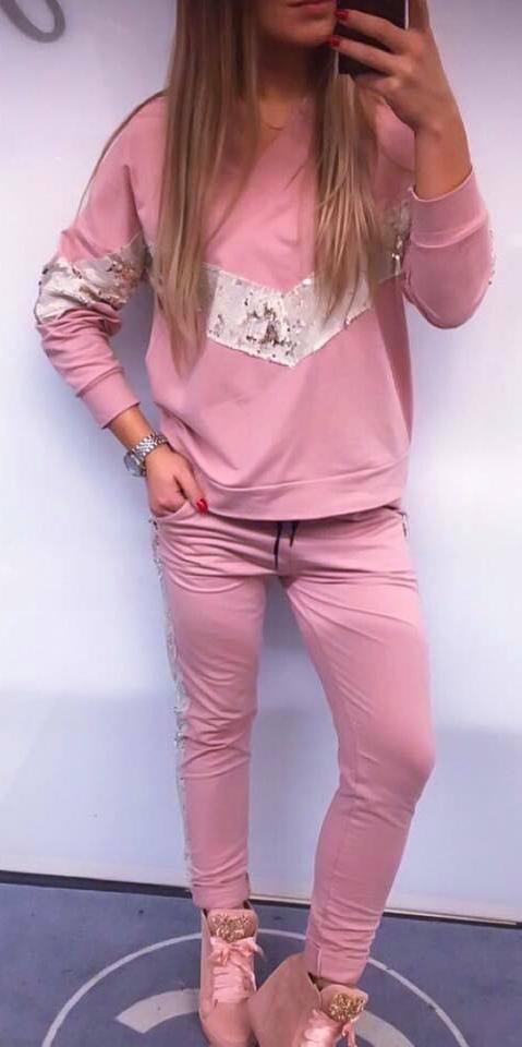75ecb4bb8 dres róż cekiny lampas bluza spodnie uni SALE - 7128290683 ...