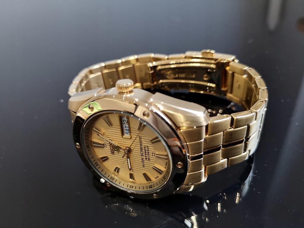 0032fb00cd1121 zegarek SEIKO 5 23 kamienie, Gold Plated - 7740281808 - oficjalne ...